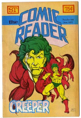 COMIC READER #144 FANZINE (1977) AUSTIN CREEPER COVER
