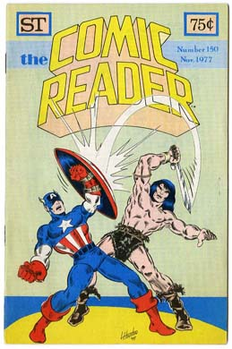 COMIC READER #150 FANZINE (1977) Capt. America Cover