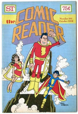 COMIC READER #161 FANZINE '78 Hembeck SHAZAM Family CVR