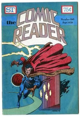 COMIC READER #160 FANZINE (1978) DR STRANGE CVR GAMMILL