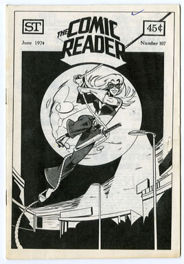 COMIC READER #107 FANZINE (1974) JOE STATON Cover