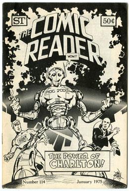COMIC READER #114 FANZINE (1975) JOHN BYRNE ROG Cover