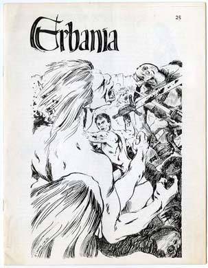 ERBANIA #25 FANZINE (1970) Roy KRENKEL BURROUGHS ERB