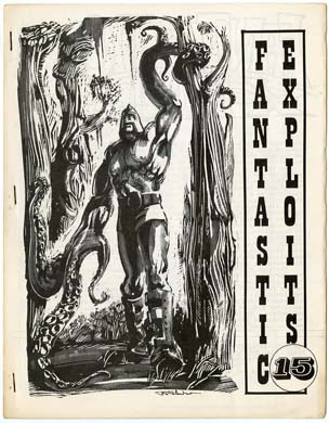 FANTASTIC EXPLOITS #15 FANZINE (1970) FRAZETTA REPRINTS