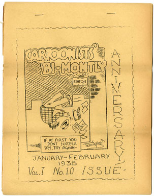 CARTOONISTS&#039; BI-MONTHLY #10 VERY RARE 1938 FANZINE