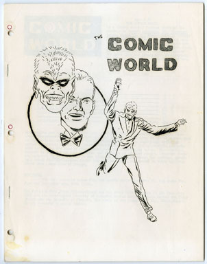 COMIC WORLD #7 FANZINE (1965) THE FACE / BLACK KNIGHT