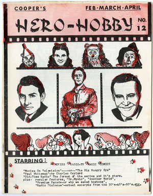 HERO-HOBBY #12 (1968) FANZINE MOVIES/TV/RADIO/COMICS