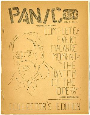 PANIC #1 (1963) RARE FANZINE PHANTOM OF OPERA Ron BORST