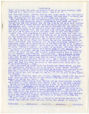 TALLY-HO # 5 FANZINE 1969 LARRY HERNDON HARLAN ELLISON