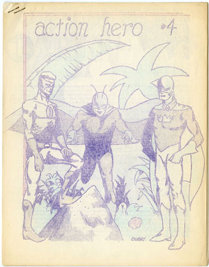 ACTION HERO #4 FANZINE (1964) BILL DUBAY ARTWORK COMICS