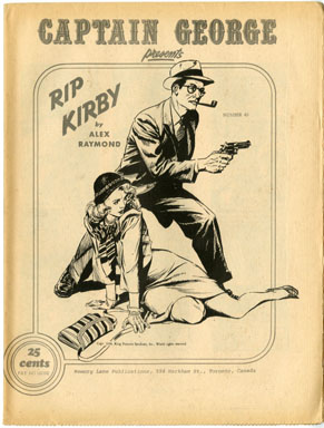 CAPTAIN GEORGE PRESENTS #45 FANZINE RIP KIRBY 1971