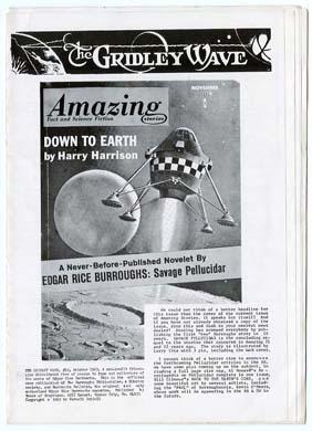GRIDLEY WAVE #12 Edgar Rice BURROUGHS Fanzine (1963)