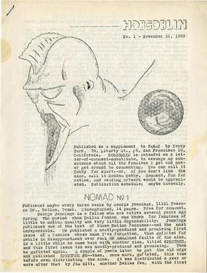 HOBGOBLIN #1 (1959) SF FANZINE Reviews FJA Collection