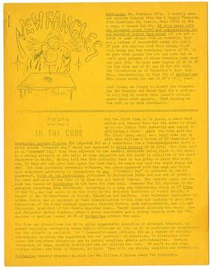 NEWFANGLES #44 FANZINE (1970) Don & Maggie THOMPSON