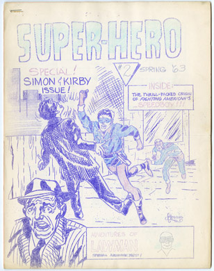 SUPER-HERO #2 (1963) FANZINE BILJO WHITE GRASS GREENE