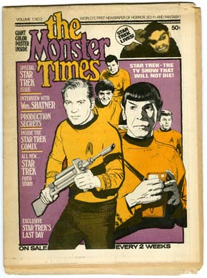 MONSTER TIMES #2 FANZINE (1972) STAR TREK GRAY MORROW