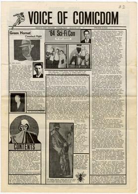 VOICE OF COMICDOM #2 (#1) 1964 FANZINE BILJO RONN FOSS