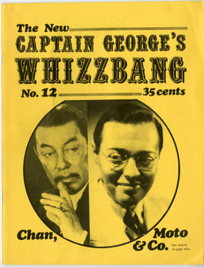 WHIZZBANG #12 FANZINE CHARLIE CHAN MR. MOTO AVENGER '71