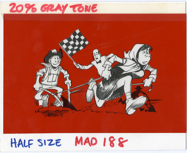 BOB CLARKE - MAD #188 NAT'L PLOWING CONTEST ORIG ART