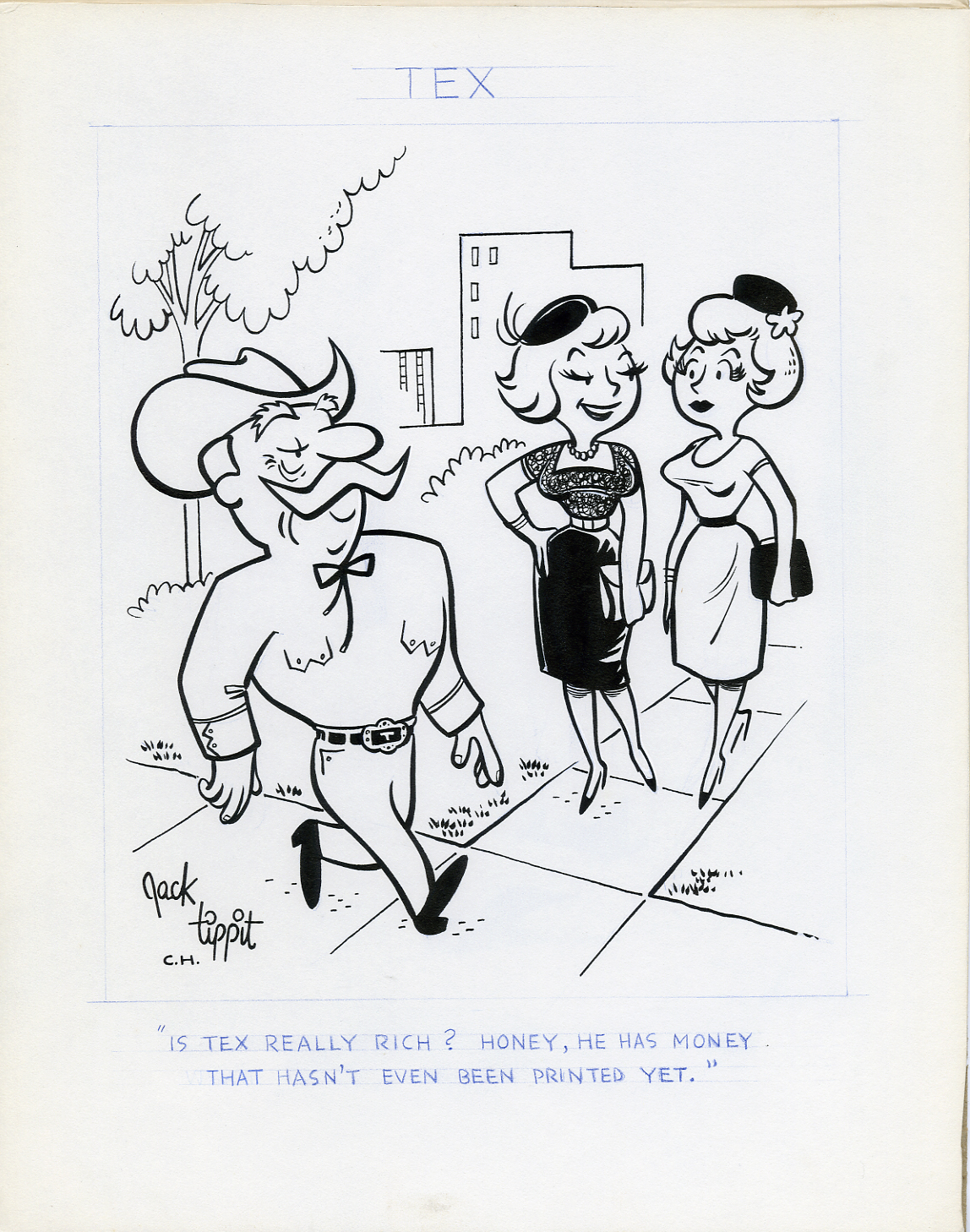 JACK TIPPIT - TEX DAILY STRIP 1970s HOW RICH IS TEX?