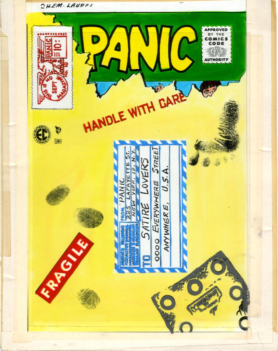 PANIC #10 PRODUCTION COVER PROOF - EC COMICS 1955