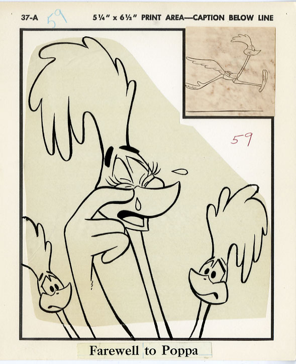 BLB: ROAD RUNNER SUPER BEEP-CATCHER PG 59 PRODUCTION ART / FAREWELL TO POPPA