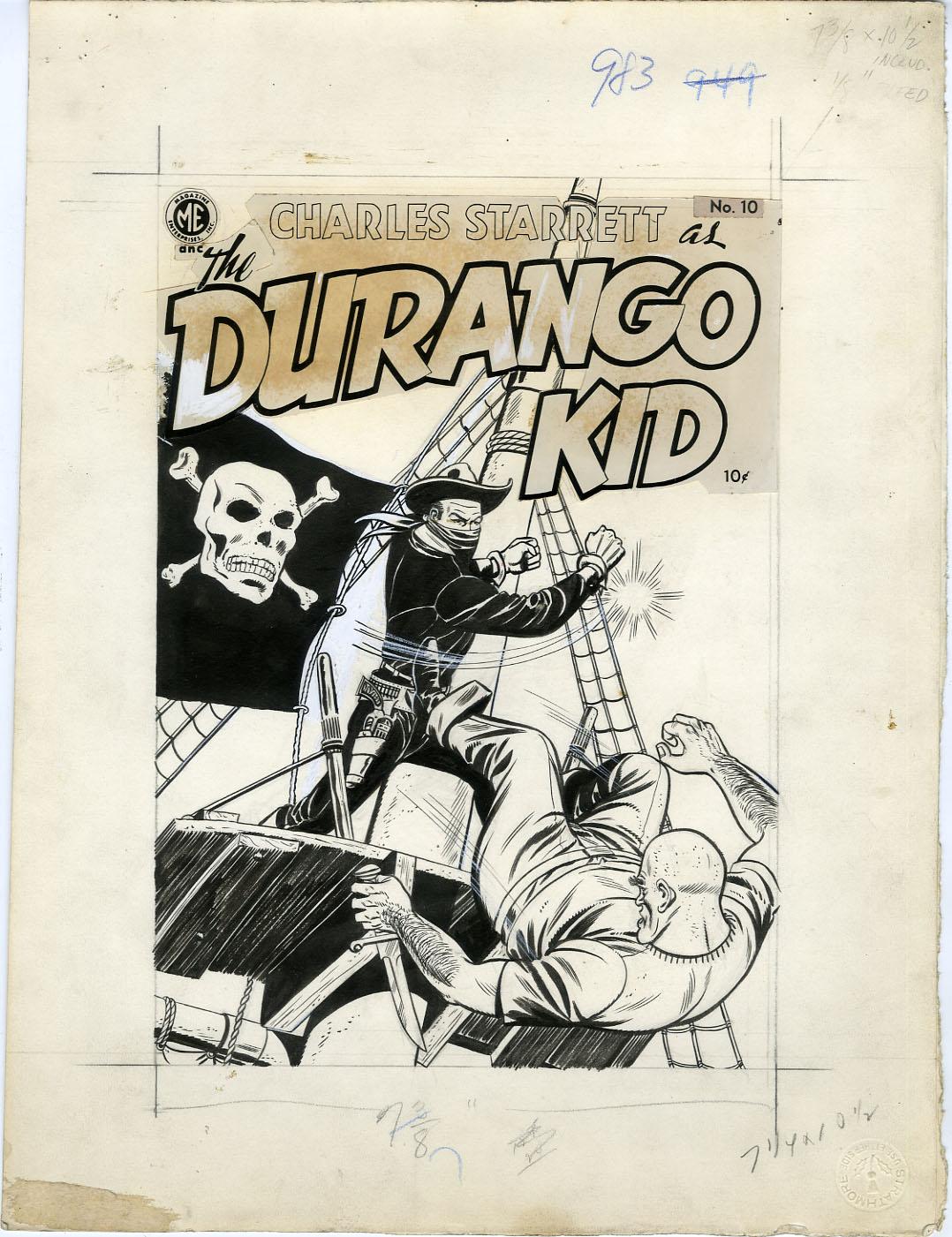 JOE CERTA (attributed) - DURANGO KID #10 COVER ORIGINAL ART