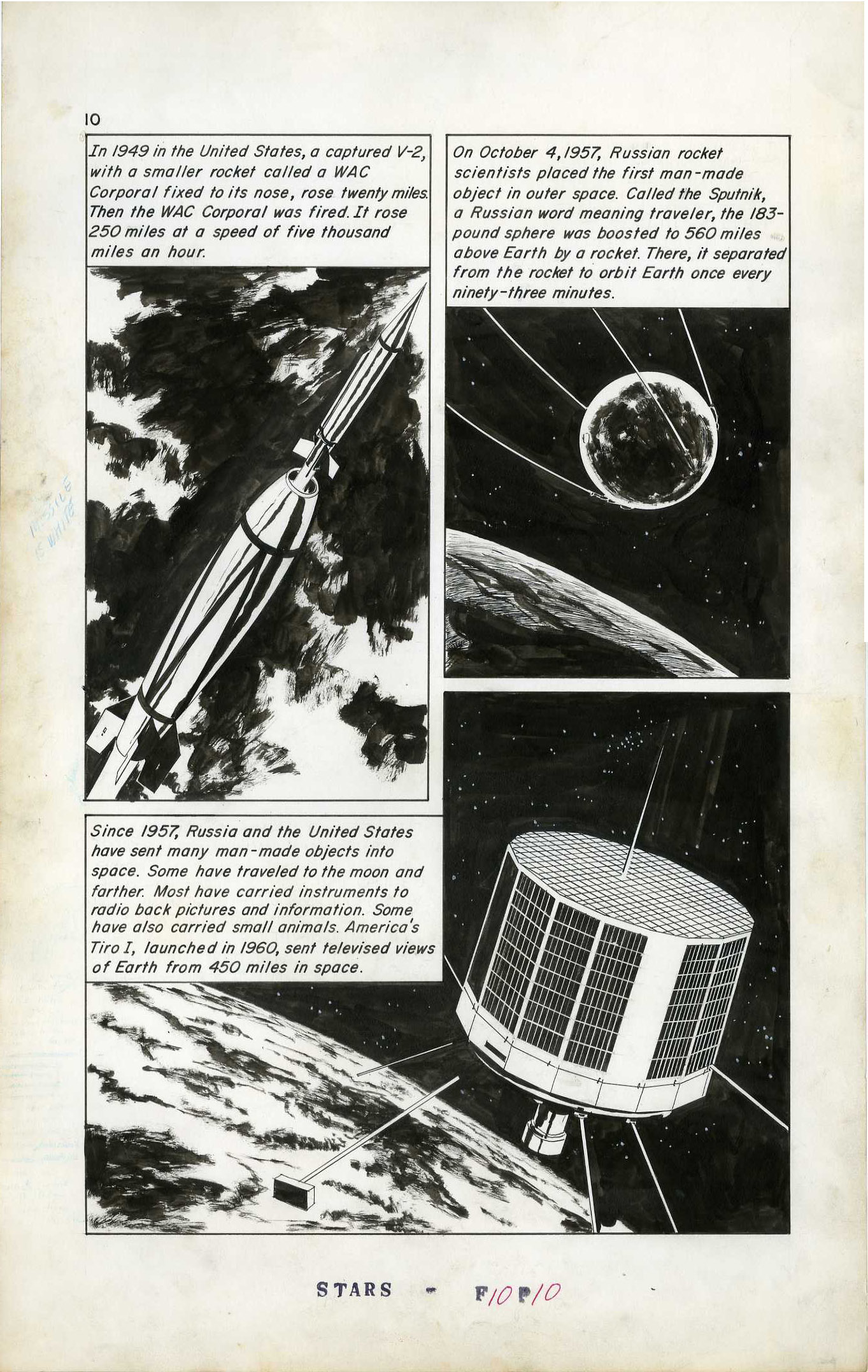 ANGELO TORRES - CLASSICS ILLUSTRATED #165 TO THE STARS PAGE 10 ORIGINAL ART