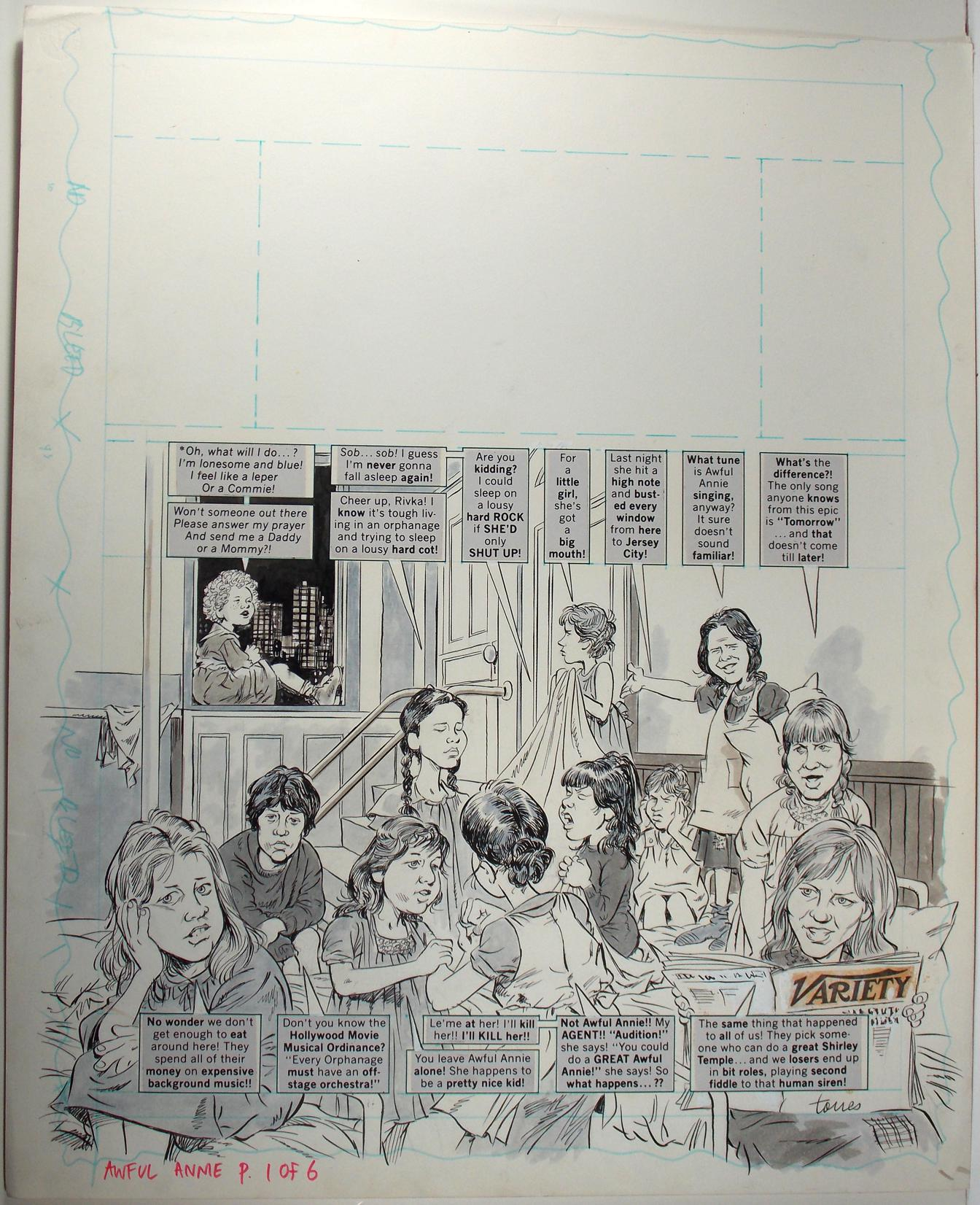 "ANGELO TORRES - MAD #236 ""AWFUL ANNIE"" 6-PG STORY ORIGINAL ART (1983)"