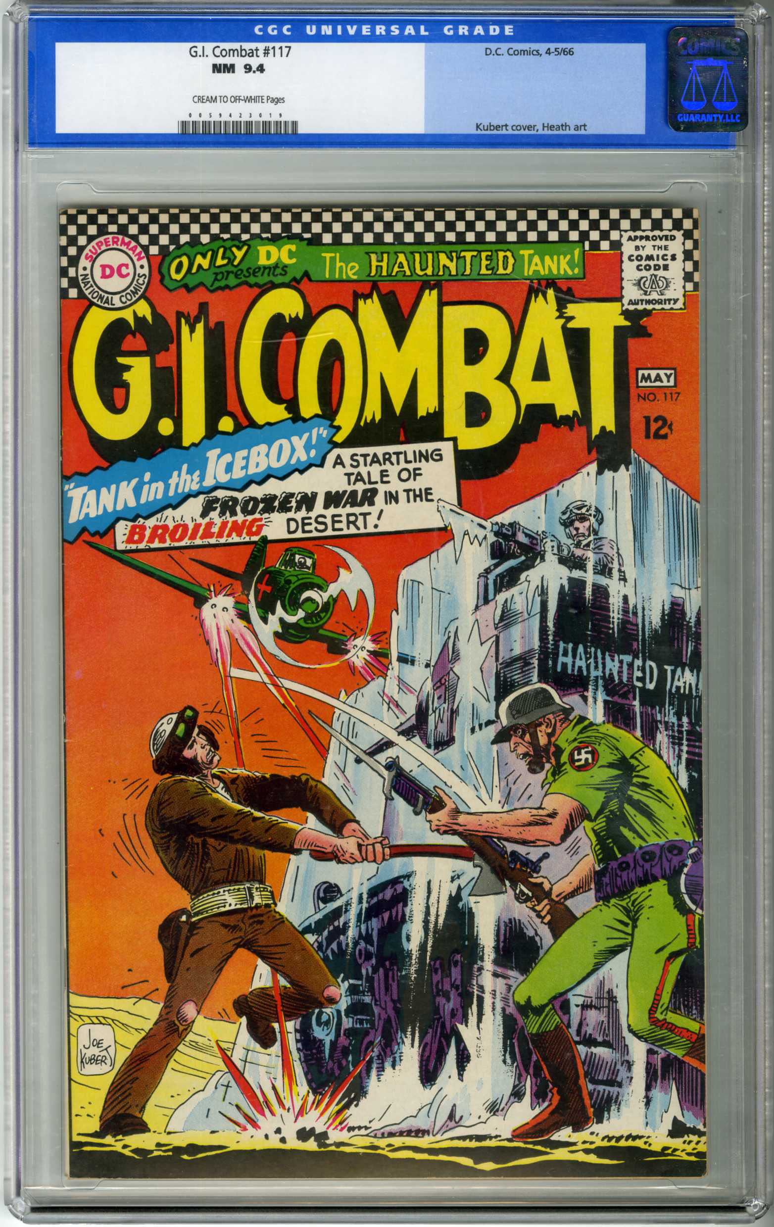 G.I. COMBAT #117 (1966) CGC NM 9.4 COW Pages KUBERT COVER / RUSS HEATH ART