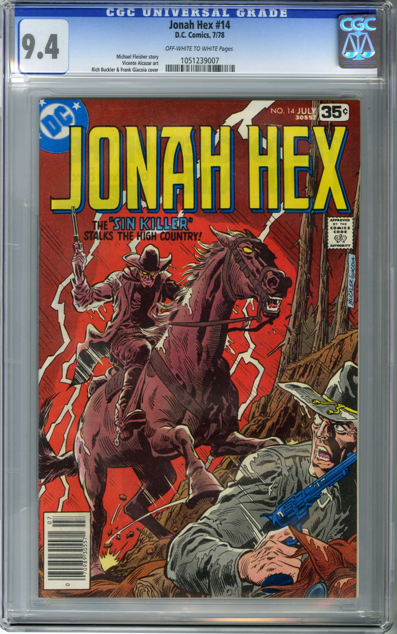 JONAH HEX #14 (1978) CGC NM 9.4 OWW Pages RICH BUCKLER COVER