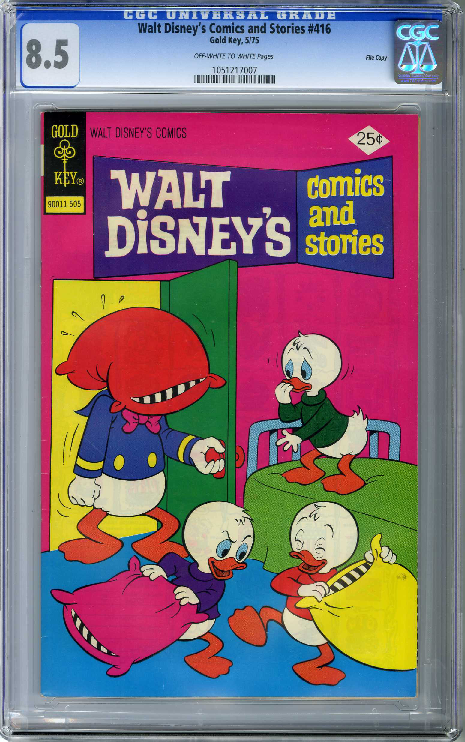 WALT DISNEY'S COMICS & STORIES #416 (1975) CGC VF+ 8.5 OWW FILE COPY/DONALD DUCK