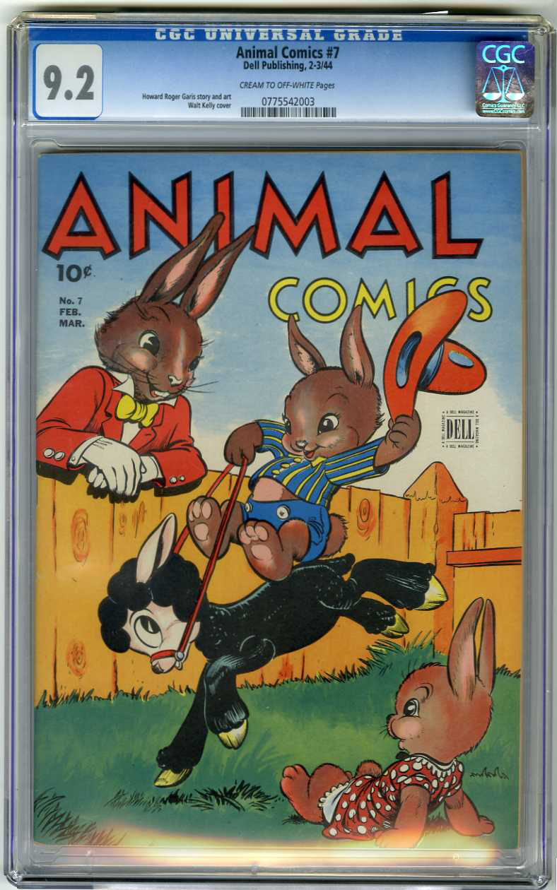 ANIMAL COMICS #7 (1944) CGC NM- 9.2 COW Pages WALT KELLY COVER