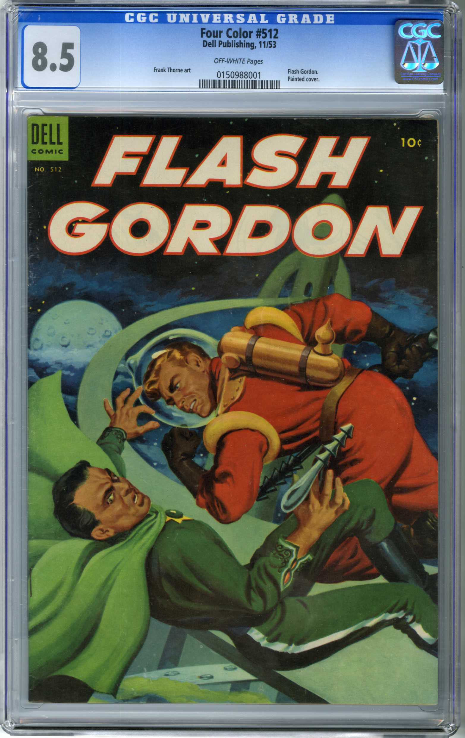 FOUR COLOR #512 FLASH GORDON (1953) CGC VF+ 8.5 OW Pages PAINTED CVR /THORNE ART