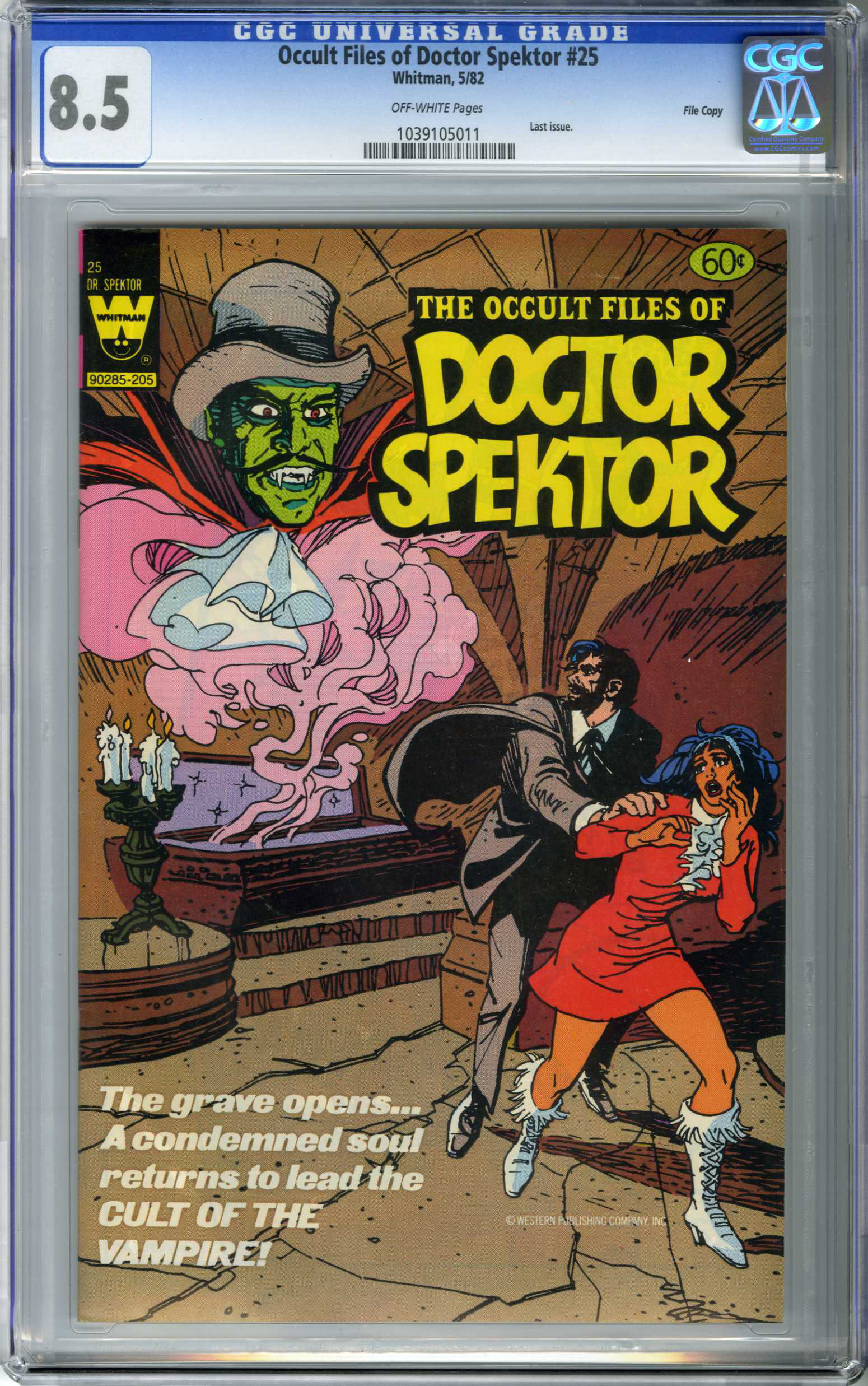 OCCULT FILES OF DOCTOR SPEKTOR (1982) CGC VF+ 8.5 OW Pages FILE COPY /LAST ISSUE