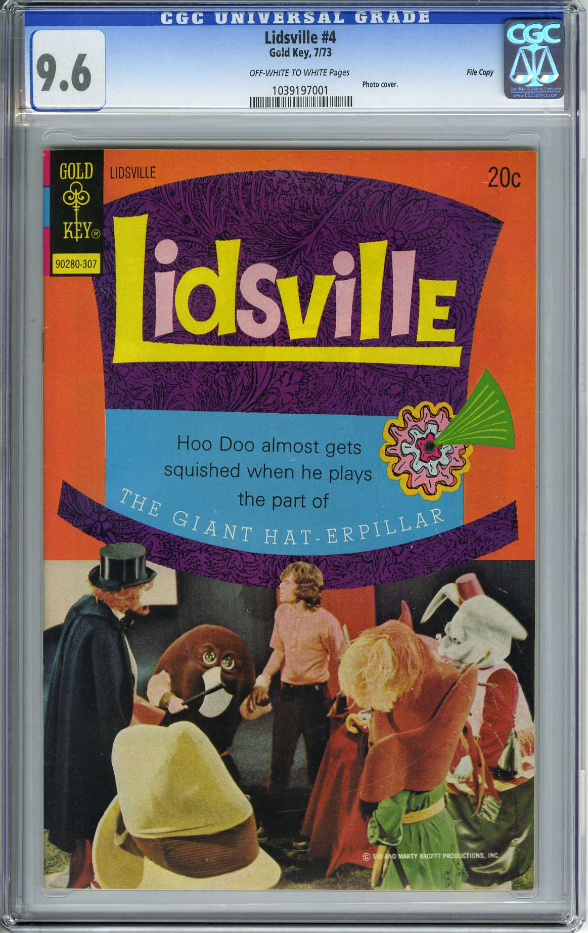 LIDSVILLE #4 (1973) CGC NM+ 9.6 - OWW Pages - FILE COPY - HIGHEST GRADED!