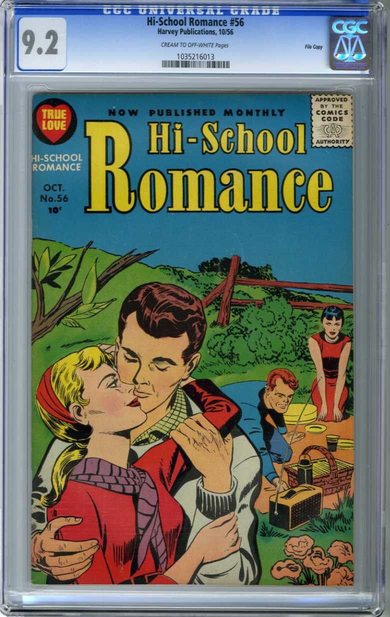 HI-SCHOOL ROMANCE #56 (1956) CGC NM- 9.2 COW Pages FILE/ KIRBY COVER/ONLY GRADED