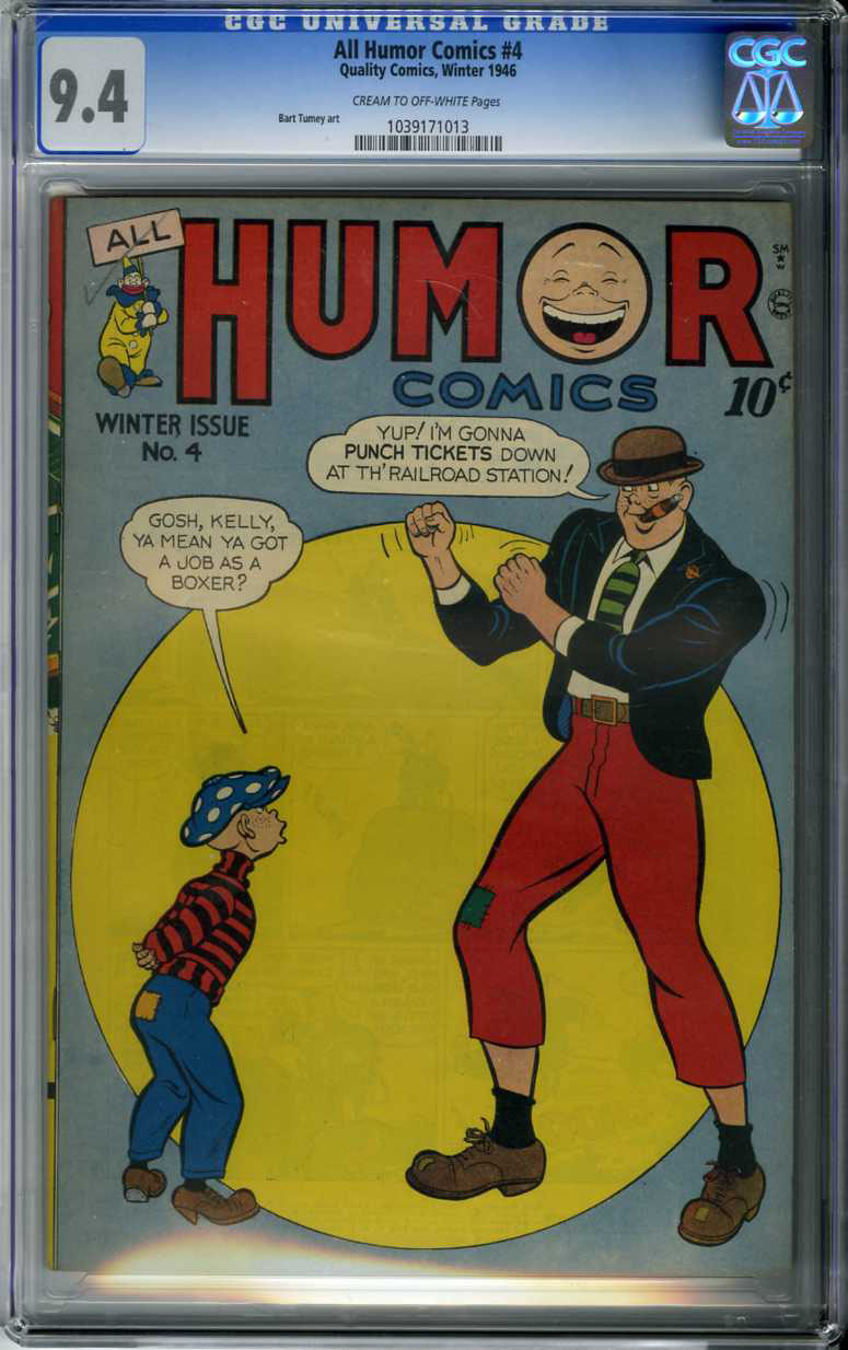 ALL HUMOR COMICS #4 (1946) CGC NM 9.4 COW Pages BART TUMEY ART