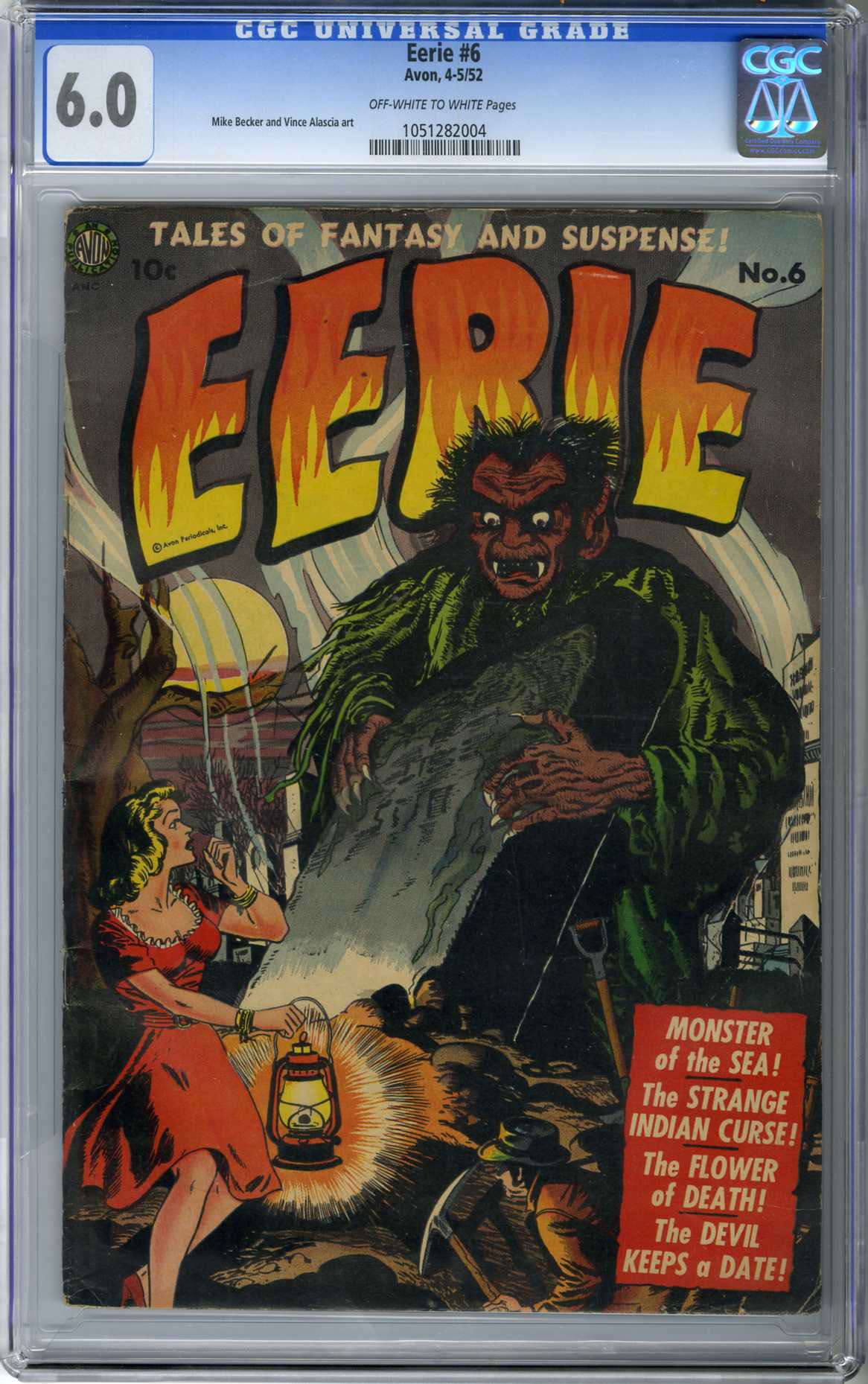 EERIE #6 (1952) CGC FN 6.0 OWW Pages / MIKE BECKER & VINCE ALASCIA ART