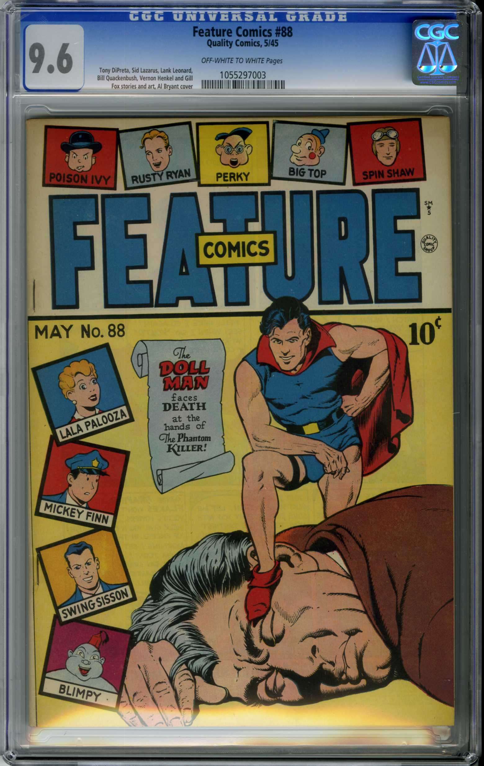 FEATURE COMICS #88 (1945) CGC NM+ 9.6 OWW Pages / DOLL MAN / AL BRYANT COVER