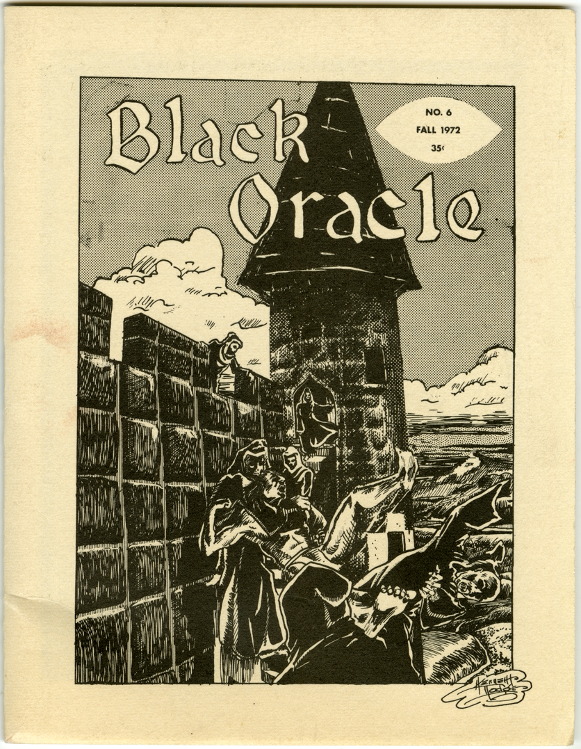 BLACK ORACLE #6 FANZINE (1972) ALAN ORMSBY INTERVIEW / LITTLE SHOP OF HORRORS
