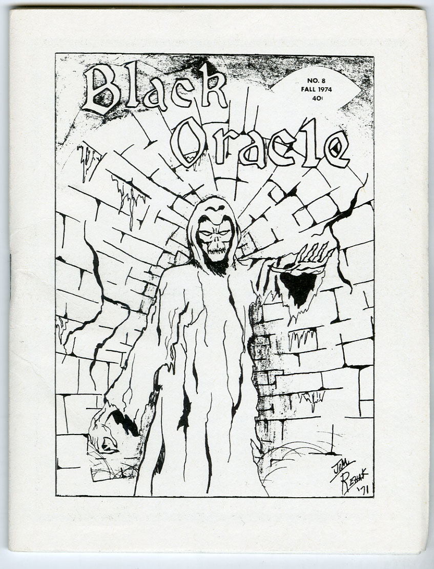 BLACK ORACLE #8 MINI-FANZINE (1974) GEORGE STOVER/EXORCIST/ FORREST TUCKER INT.