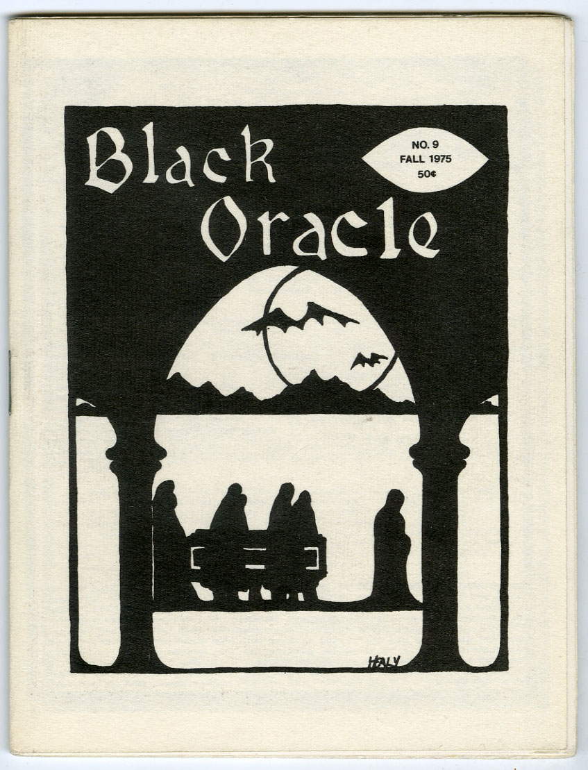BLACK ORACLE #9 FANZINE (1975) GEORGE STOVER / FREDRIC MARCH / FRANKENSTEIN