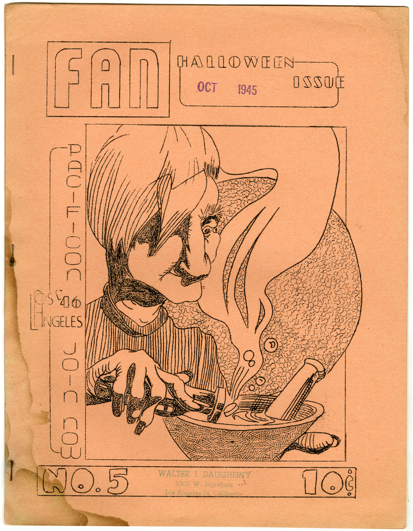 FAN #5 EARLY SCIENCE FICTION FANZINE (1945) HALLOWEEN ISSUE