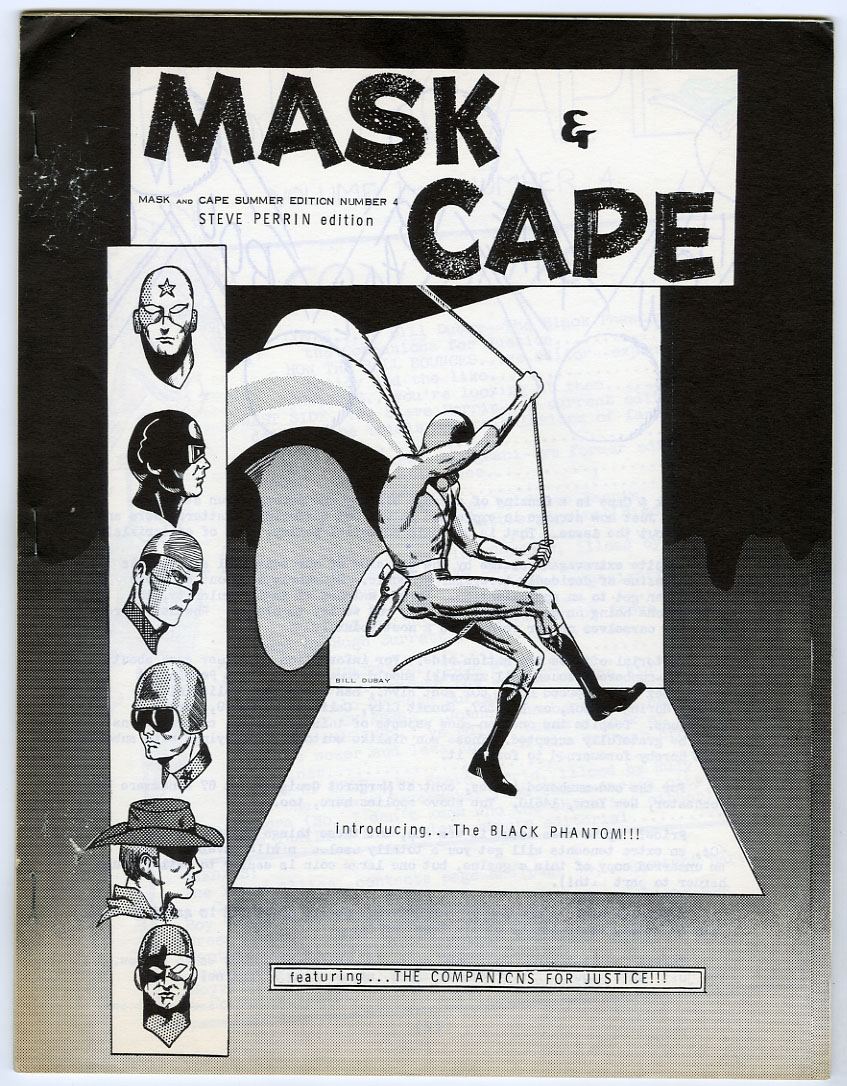 MASK AND CAPE #4 FANZINE (1965) RONN FOSS / STEVE PERRIN/BILL DUBAY/RUDY FRANKE