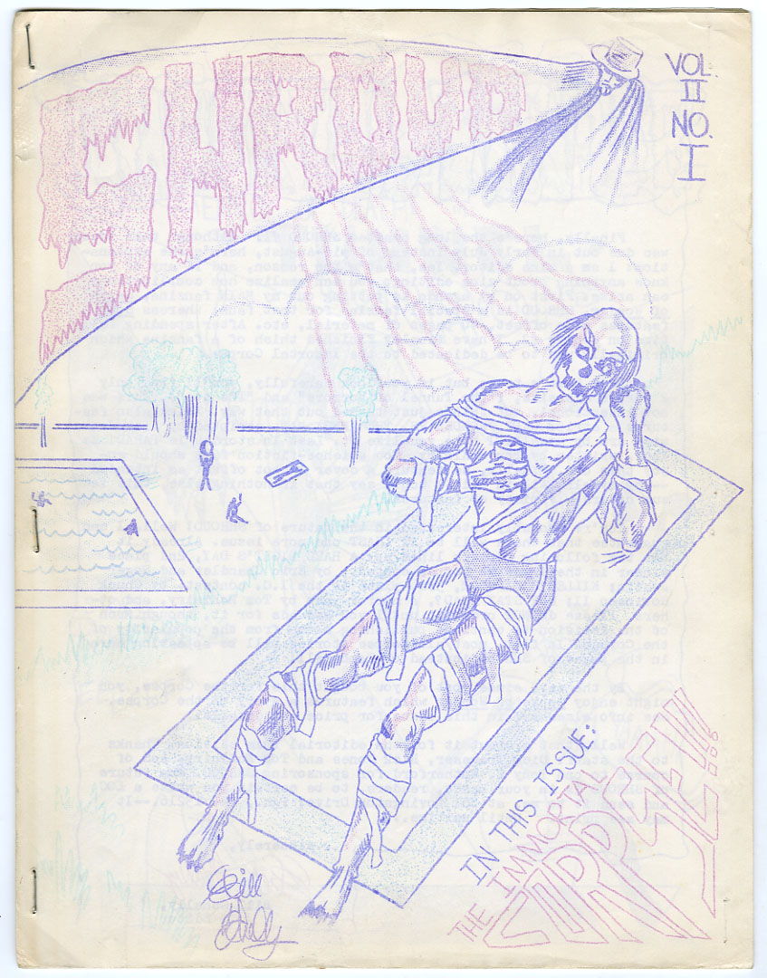 SHROUD #1 FANZINE (197?) BILL SCHELLY / IMMORTAL CORPSE / CAPT. WONDER