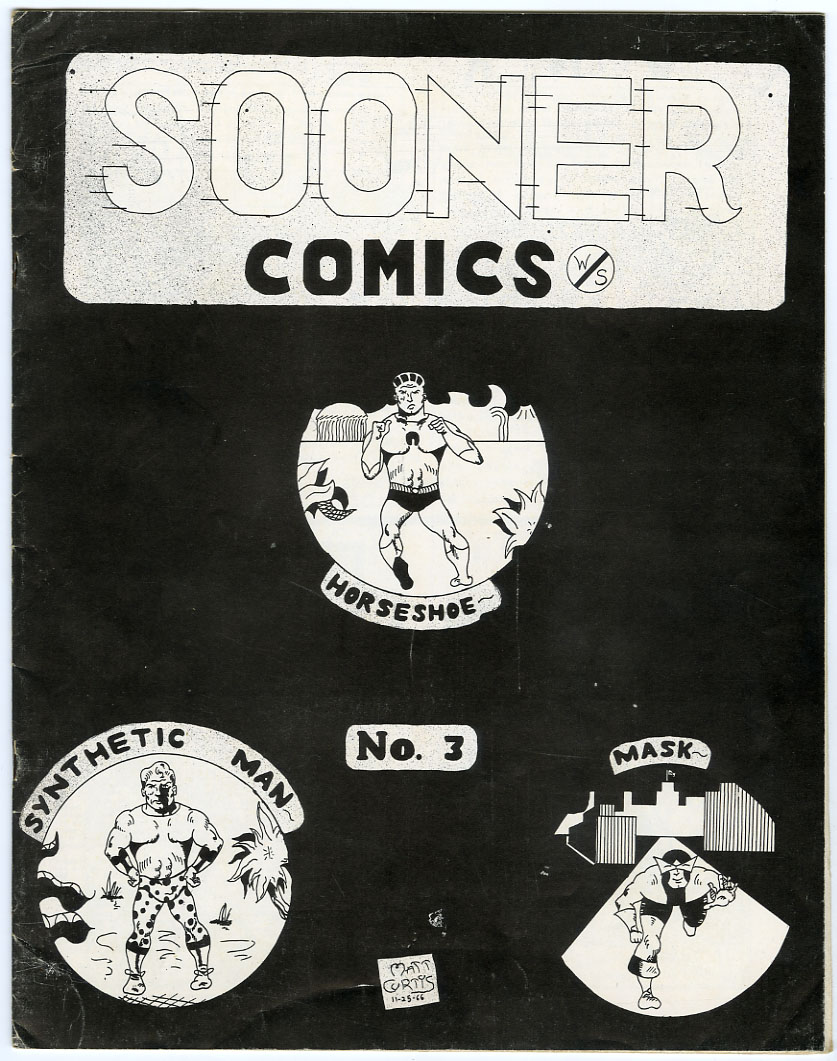SOONER #3 FANZINE (1966) ORIGINAL AMA-COMIC STRIPS