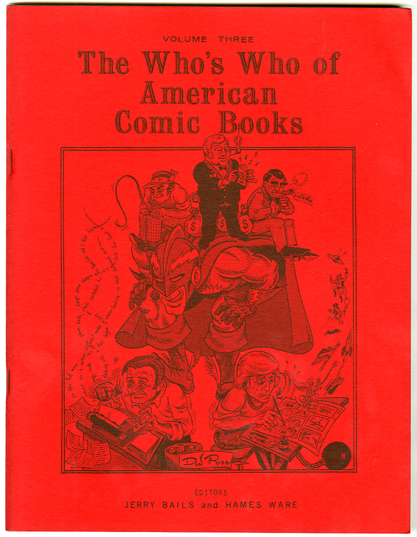 WHO'S WHO OF AMERICAN COMIC BOOKS VOL. 3 (1975) FANZINE / JERRY G. BAILS