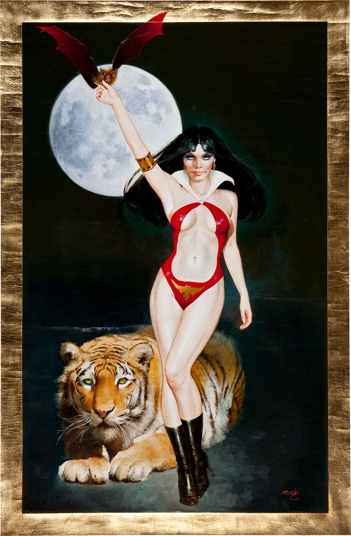 ENRICH TORRES - VAMPIRELLA GOLD SERIES - TIGER PAINTING ORIGINAL ART