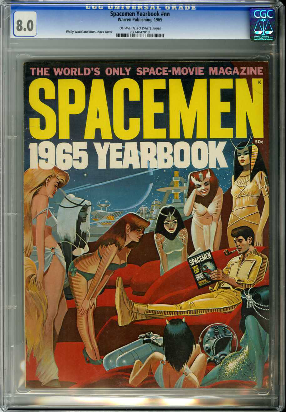 SPACEMAN 1965 YEARBOOK (1965) CGC VF 8.0 OWW Pages / WALLY WOOD/RUSS JONES COVER